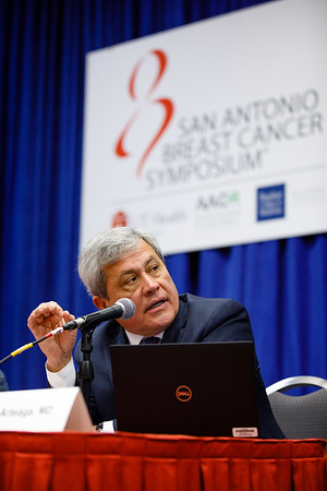 Carlos Arteaga, MD, speaks during the morning press briefing