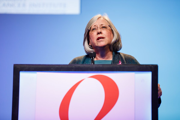 Lisa Coussens, PhD, speaks during Susan G. Komen® Brinker Awards For Scientific Distinction Lectures