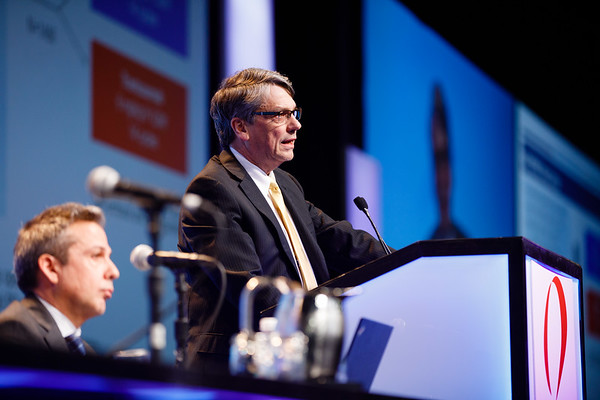 Charles E. Geyer, Jr., MD, speaks during General Session 1