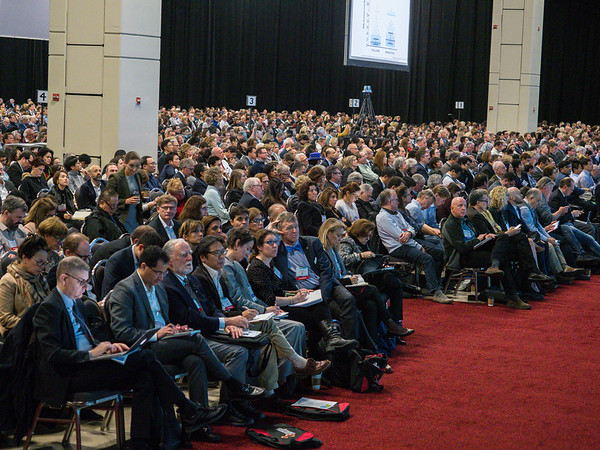 Attendees during morning sessions