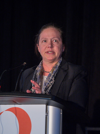 E. Claire Dees, MD speaks during Spotlight Session 1: Developmental Therapeutics