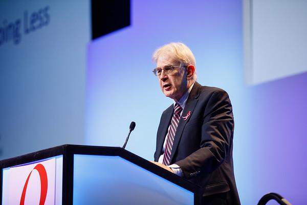 George W. Sledge Jr., MD, speaks during Susan G. Komen® Brinker Awards For Scientific Distinction Lectures
