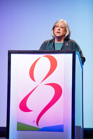 Lisa Coussens, PhD, speaks during Susan G. Komen® Brinker Awards For Scientific Distinction Lectures