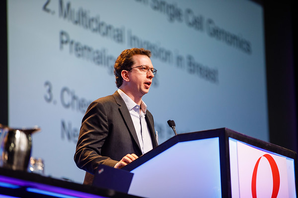 Nicholas E. Navin, PhD, speaks during Plenary Lecture 1