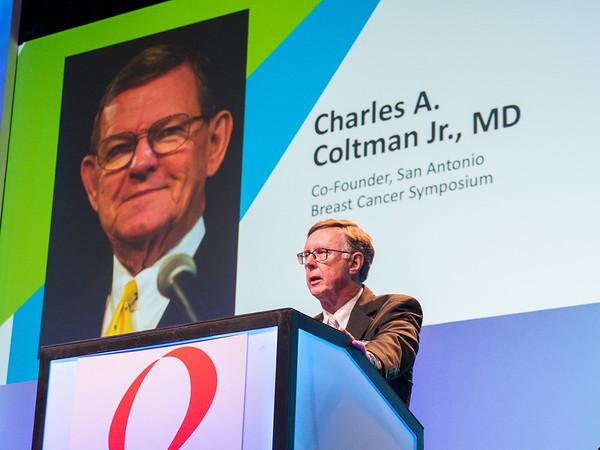 C Kent Osborne MD honors Dr Coltman opening session SABCS 2018