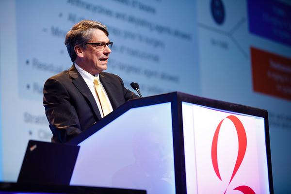 Charles E. Geyer, Jr., MD, speaks during General Session 1