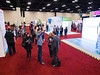 Attendees during the opening of the exhibit hall