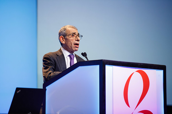 Eric P. Winer, MD, speaks during Susan G. Komen® Brinker Awards For Scientific Distinction Lectures