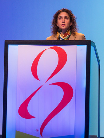 Virginia Kaklamani, MD honors Rich Markow during opening session