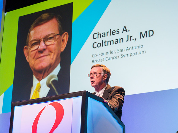 C Kent Osborne MD honors Dr Coltman opening session SABCS 2018