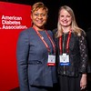 Felicia Hill-Briggs, PhD, ABPP and Jackie L. Boucher, MS, RDN during President, Health Care & Education Address and Outstanding Educator in Diabetes Award Lecture