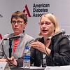 "Elizabeth R. Seaquist, MD, Past ADA President of Medicine & Science, speaks during Press Conference: ""Gender Gaps in Research and Care"""