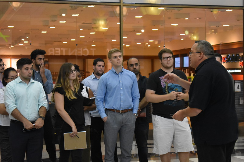 Russ Fulton, General Manager at Eastern Hills Mall leads tour