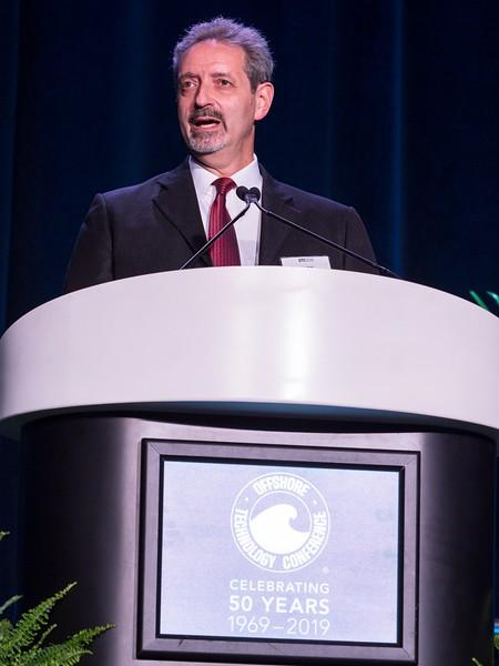 Wafik Beydoun, Chairman of OTC, speaks during Opening Ceremony