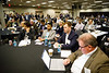 Attendees and presenters during Rice Alliance Startup Roundup