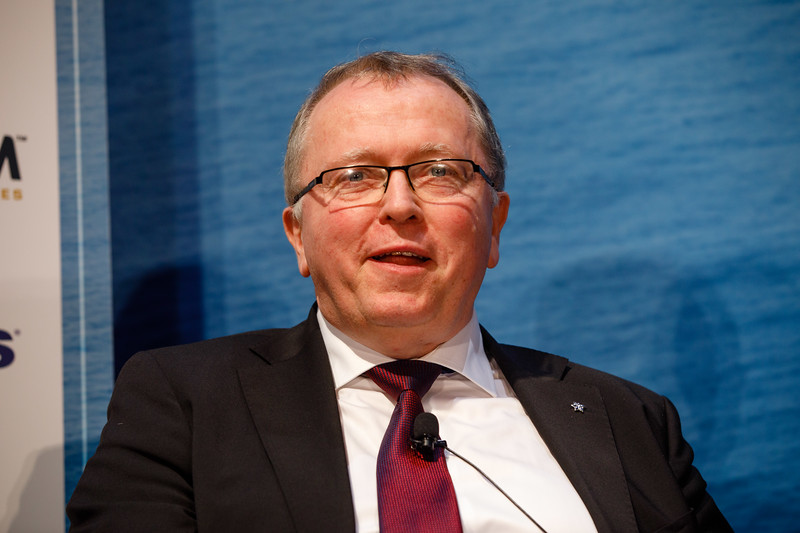 Eldar Saetre, president and CEO of Statoil/Equinor, speaks during Chairman?s Panel on Energy Transformation