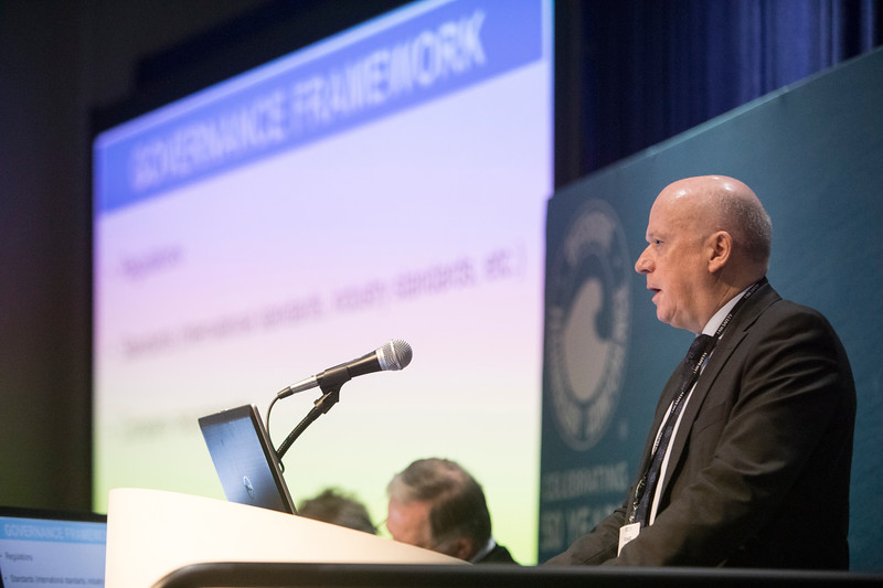 A speaker presents during Morning Technical Sessions