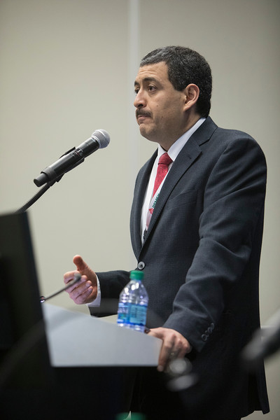 Ulises Hernandez speaks during Topical Breakfast: The New PEMEX Post Energy Reform: Realizing Opportunities and Managing Risk in the Mexican Petroleum Industry