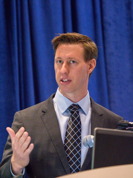 Zack Owens speaks during Intervention, Abandonment and Decommissioning