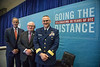 Left to right, Director, BSEE, Scott Angelle, Executive Director, Center For Offshore Safety, Charles Williams and Rear Admiral, United States Coast Guard, John Nadeau pose for a portrait on stage during Topical Luncheon: Center for Offshore Safety: Perspectives Regarding Safety, Safety Management,