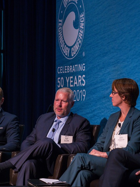 Panelists speak during PANEL: One Gulf Reaching 50 Billion BOE and Growing