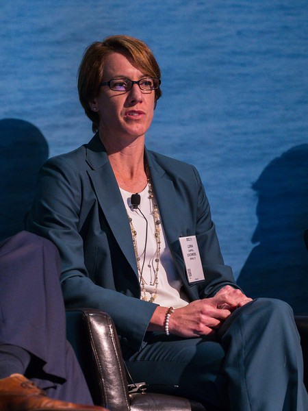 Lorna Campbell, Exploration Manager, ExxonMobil during PANEL: One Gulf Reaching 50 Billion BOE and Growing