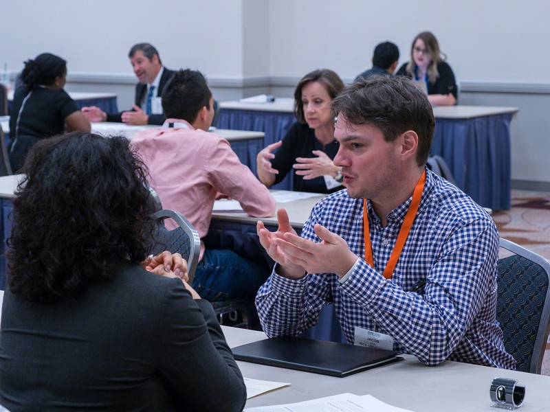 Speakkers and attendees during Networking Event: 1-on-1 Mock Interview Session