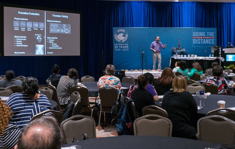 Speaker and teachers during Energy Education Institute: Teacher Workshop