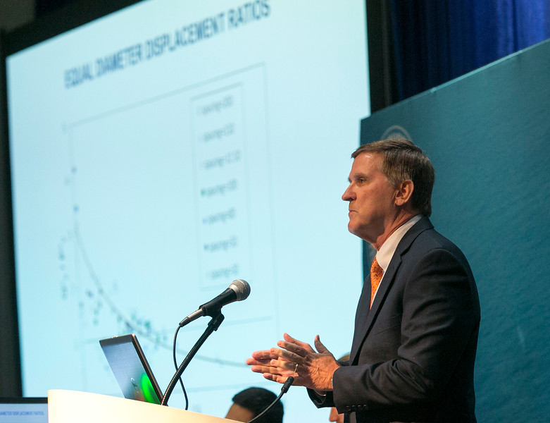 Don Allen, from VIV Solutions speaks during Afternoon Technical Session: Risers and Pipelines