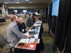 Exhibitors during Rebooking sessions