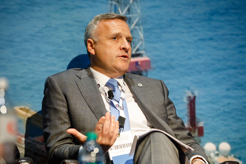 David Dickson, President and CEO of McDermott, speaks during Afternoon Technical Session: CEO Panel: Integrated Offshore Activities, Mega Mergers, and Alliances: A Competitive Integration