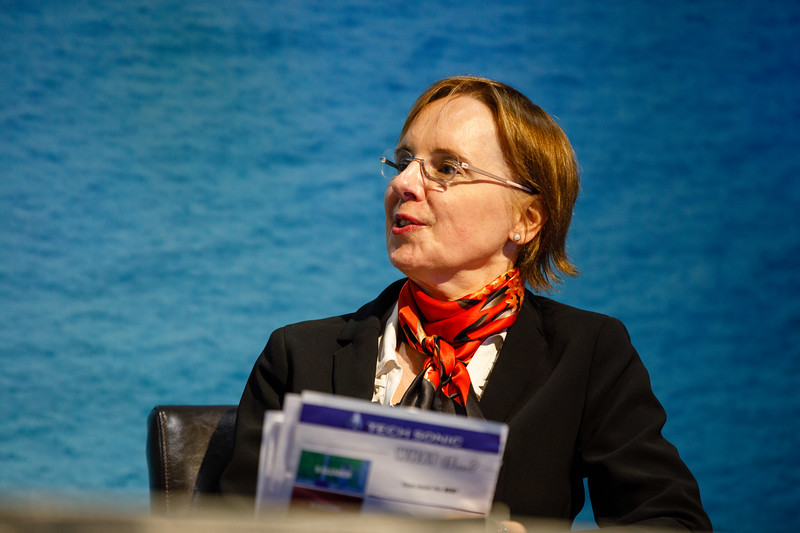Isabel Waclawek speaks during Afternoon Technical Session: CEO Panel: Integrated Offshore Activities, Mega Mergers, and Alliances: A Competitive Integration