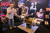 Attendees check out exhibits on the show floor  during demos at MillHog booth