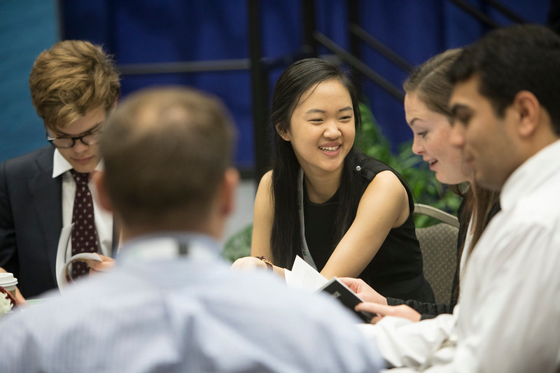 Students, teachers and other audience members during Industry Breakfast: OTC Energy Challenge