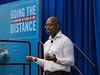 Keynote Emeka Emembolu speaks during The Next Wave?Keynote Emeka Emembolu and ?shild Larsen