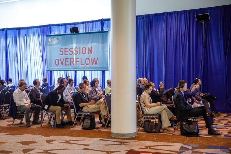Attendees listen during Technical Session Overflow