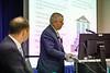 Marcel Robichaux speaks during Topical  Breakfast: WellSafe: Chevron?s Well Control Assurance Program