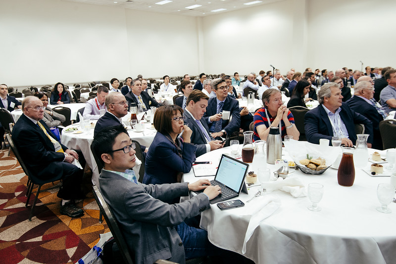 Attendees listen as Statoil Project Director Christer Geijerstam speaks during Topical Luncheon: Offshore Wind Energy in the US: Recent Projects and Future Outlook