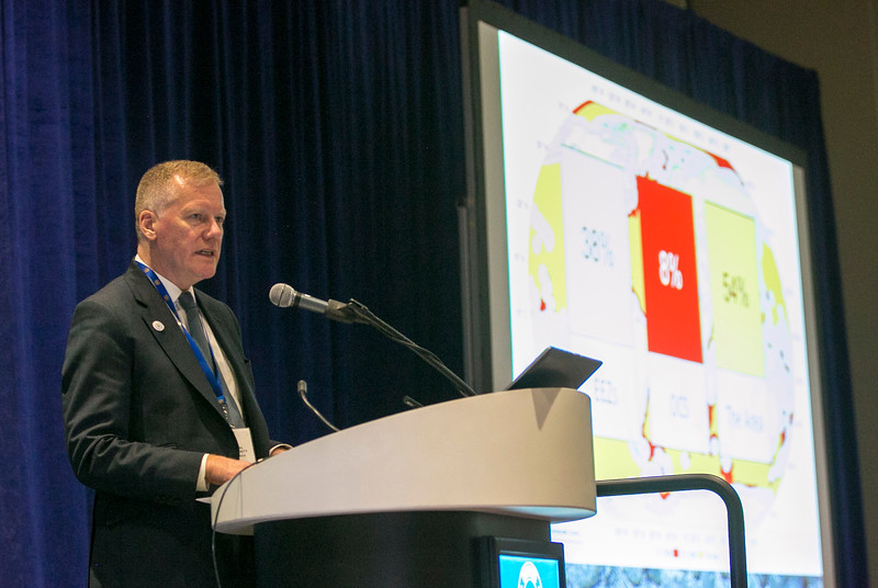 Michael Lodge, Secretary-General, International Seabed Authority, speaks during during Rice Alliance Startup Roundup