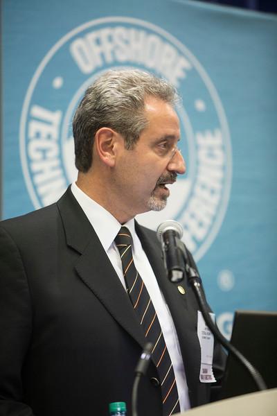 OTC Chariman of the Board of Directors, Wafik Bedoun speaks during Industry Breakfast: OTC Energy Challenge