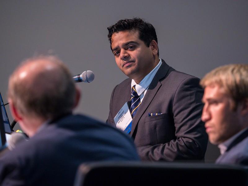 H.P. Patil speaks during Leveraging Big Data in System Design