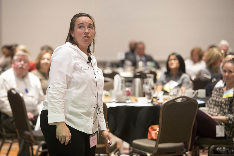 Erin Collins speaks during Networking Event: WISE: Women in the Industry Sharing Experiences: