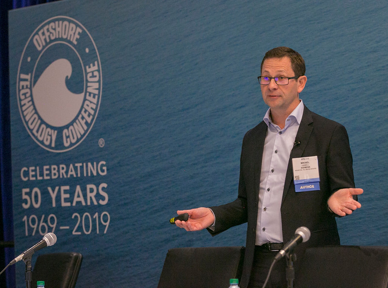Mikael Leksell, from Siemens,   during Topical Luncheon: Digitalization Deployed: The Ivar Aasen Field Development Project: The Pursuit of an Ultra-low Manned Platform Pays Dividends in the North Sea