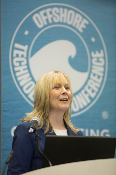 Cindy Yeilding of BP America INC speaks during OTC Energy Challenge