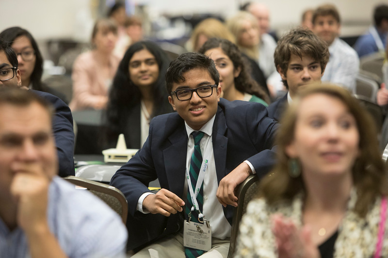 Students, teachers and other attendees during Industry Breakfast: OTC Energy Challenge
