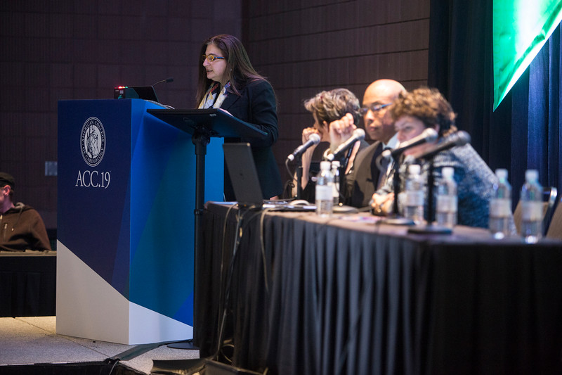 Roxana Mehran, MD, presents during Addressing Barriers to Women Entering and Advancing in Cardiology Session