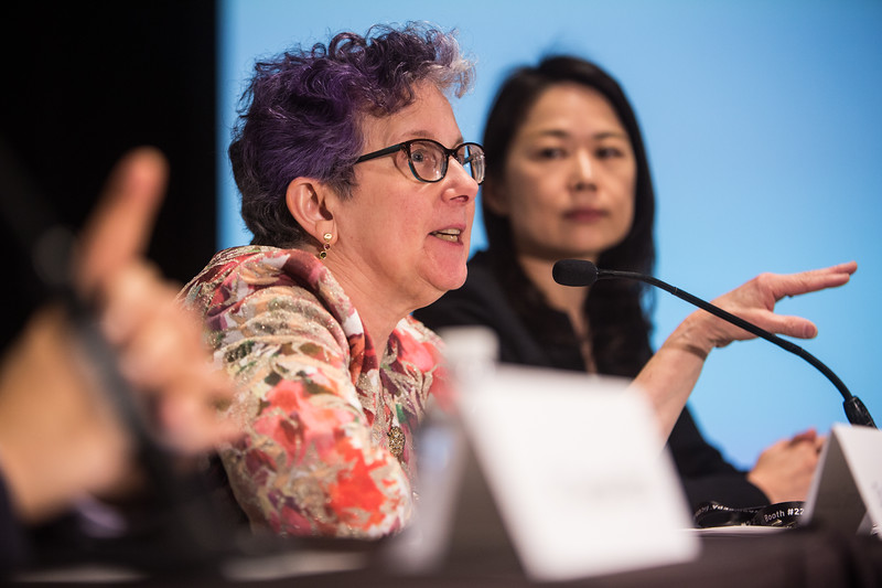 Anne Goldberg speaks during LBCT IV Press Conference