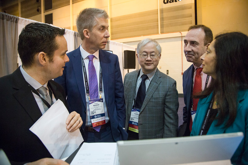 Judges deliberate their decision during Future Hub Innovation Challenge-Artificial Intelligence
