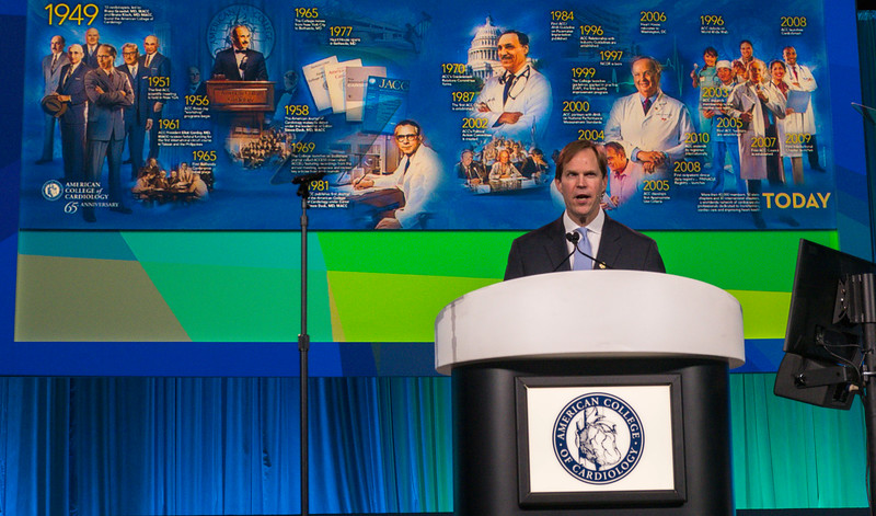 ACC President C. Michael Valentine, MD, FACC  Dack Keynote Presenter: Roberto Canessa, MD  speak during Opening Showcase Session and 2019 Simon Dack Keynote