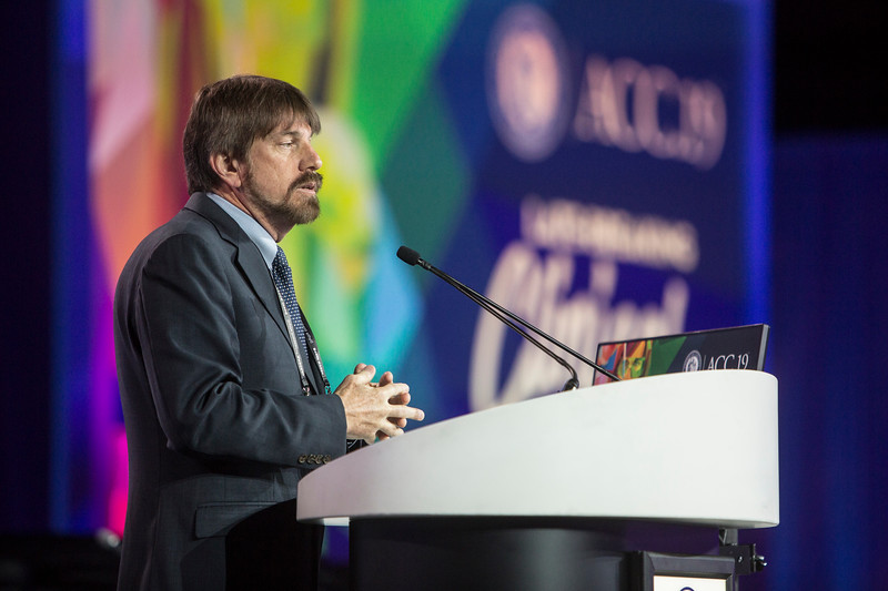 William White presents during Late-Breaking Clinical Trials (LBCT) IV: Clear Wisdom, Creole, Infinity, Declare, Reduce-It